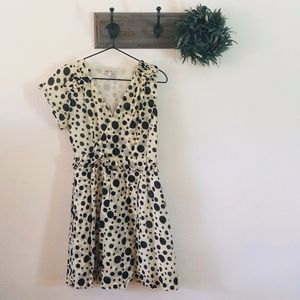 Maxmara Polka Dot Silk Midi Dress M